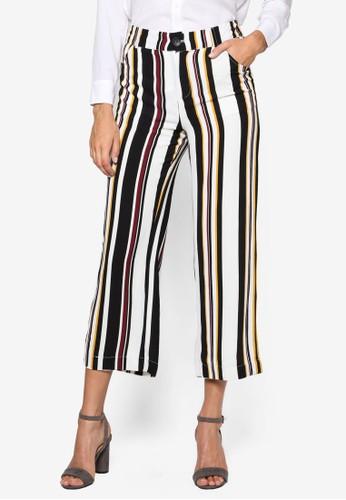 條紋直筒九分褲, 服飾, esprit retail長褲及內搭褲