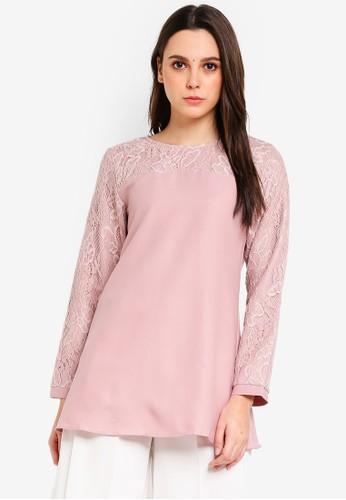 BYN pink Muslimah Blouse 09DCAAA5565DE3GS_1