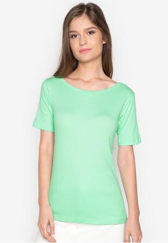 Organic green Boat Neck Shirt OR165AA0J28PPH_1