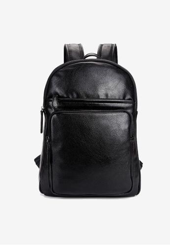 Lara black Plain Zipper Backpack - Black A2A60ACED43E05GS_1