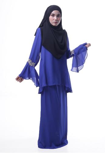 Denai Boutique blue Baju Kurung Esra 532D4AA727AC29GS_1