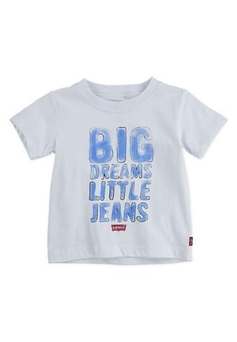 Levi's Kids white LEVIS Baby Boy Graphic Tee 58B5AKA8CB8ADDGS_1