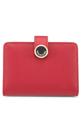 Perllini&Mel red Faux Leather Card Holder 35004AC207F95DGS_1