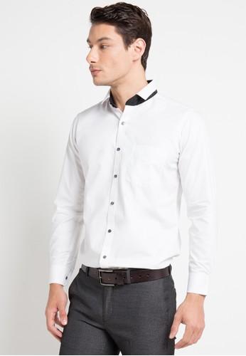 GQ MEN'S WEAR white Modern Fit Long Sleeve Shirt 22D68AAE420A16GS_1