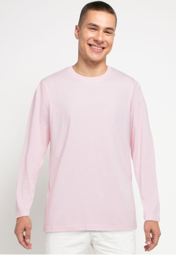 Tolliver pink Basic Long Sleeve Tee DC8A2AA6931AA5GS_1