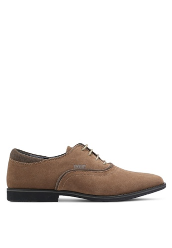 Knight brown Lace Up Business Shoes KN875SH0RF8YMY_1