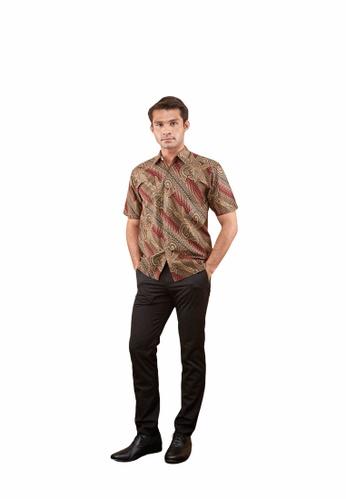 TUSCA red Eusoff Classic Batik Shirt 089F2AA4CA334CGS_1