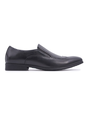Hanson Bootmaker 黑色 Hanson Bootmaker Slip-on with Wingtips- Black 4E837SHB264EF3GS_1