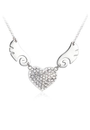 OUXI silver OUXI Angel Necklace OU821AC74RGRMY_1