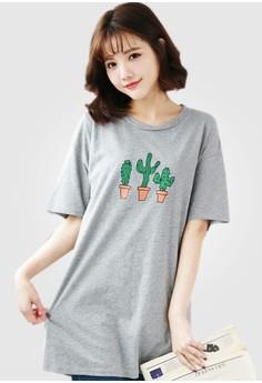Cactus Romance Long Tee