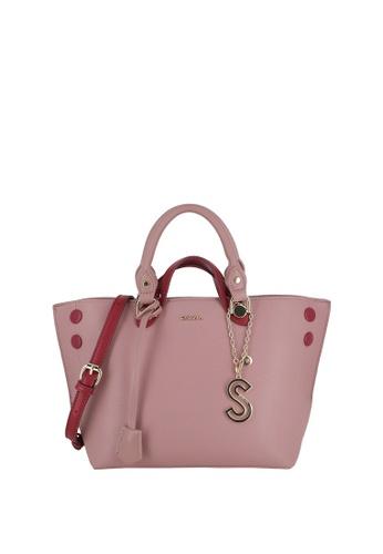 SEMBONIA pink Short Handle Tote Bag 02B7CACB0395BEGS_1