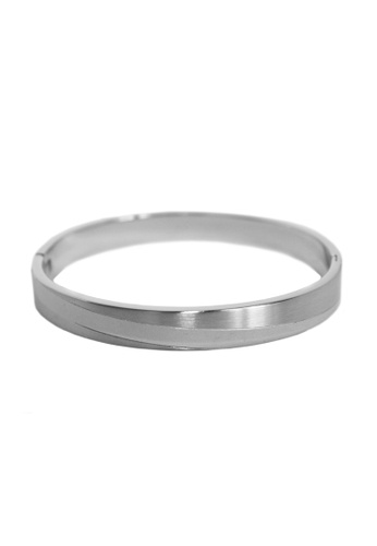 Elfi silver Elfi Stainless Steel Modern Style Clasp Silver Bracelet MB13 536AAAC44C97E4GS_1