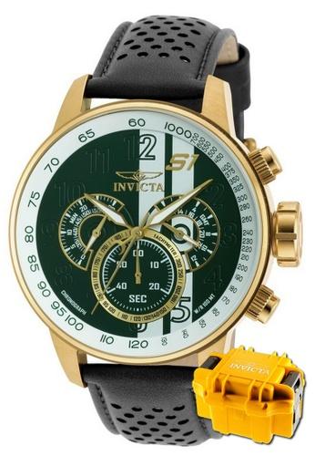 INVICTA gold Invicta S1 Rally Men Chronograph IP 48mm Quartz Tour Watch 19908 w/ Impact Case A8230ACE77C24BGS_1