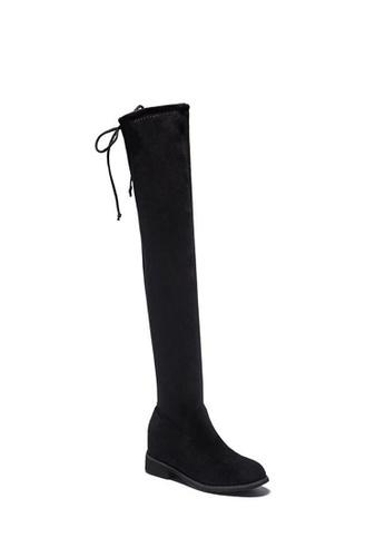 Twenty Eight Shoes 黑色 超修腳羊猄絨內增高長靴Y0572 5384BSHD6111D7GS_1