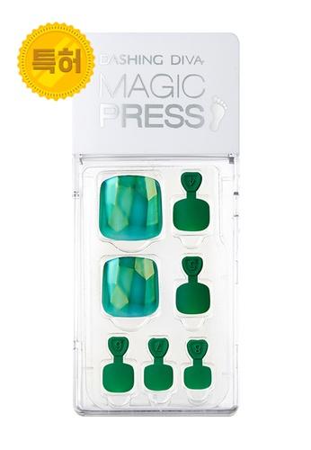 Dashing Diva green Dashing Diva 1 SEC. MAGIC PRESS Pedicure Green Gem / Press on Nails /Nail Tips 7DC9ABEC2BB235GS_1