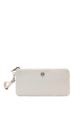 Enjoybag white Alice Leather Zip Wristlet EN763AC2VPBWHK_1