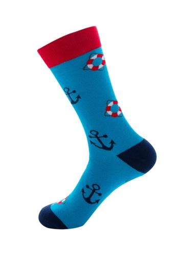 Kings Collection blue Anchor Pattern Cozy Socks (EU39-EU45) AB68EAAE9DAF5EGS_1