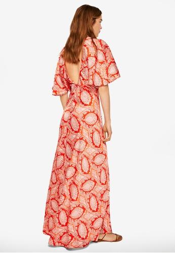 MANGO orange Paisley Gown 7A6F5AA323FBBBGS_1