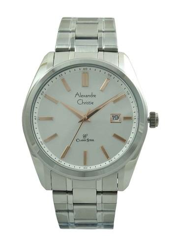 Alexandre Christie silver Alexandre Christie Jam Tangan Pria - Silver White Rosegold - Stainless Steel - 8514 MDBSSSLRG AL709AC65ISGID_1