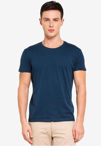 Electro Denim Lab 藍色 Cotton Tee 6D6C5AAC8D1B13GS_1