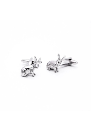 Red Stag And Hind silver Red Stag And Hind Rhodium Wild Hare Cufflinks 6FB82AC2388DE8GS_1