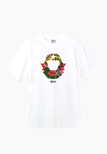 BSX white BSX Unisex's regular fit printed logo tee (Online exclusive) (0409029875) 3B141AABEA678AGS_1