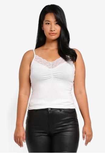 Junarose white Plus Size New Lace Singlet JU731AA0ST1NMY_1