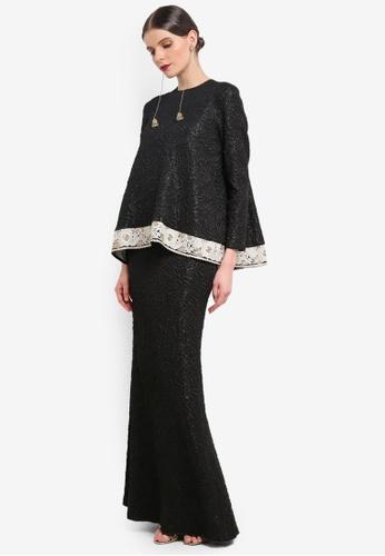 Rizalman for Zalora black Dhara Modern Kurung RI909AA0SEZJMY_1
