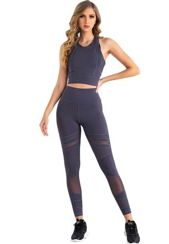 B-Code purple ZUU3041-Lady Quick Drying Running Fitness Yoga Leggings-Purple 64345AAB5851D5GS_1