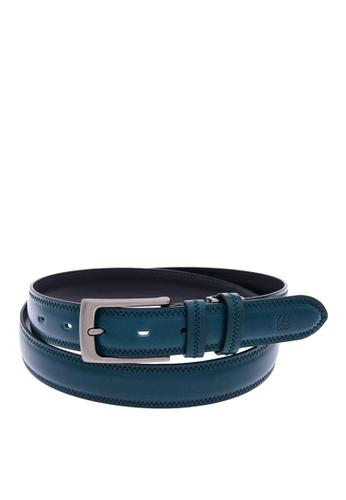 Louis Quatorze navy Men's Leather Belt LO321AC02BRPSG_1