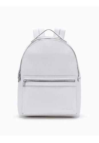 270f6c689 Calvin Klein white Campus Backpack 38CC8AC3B9D820GS_1