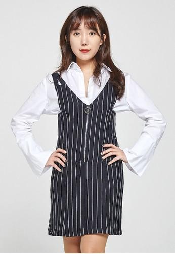 韓流時尚esprit暢貨中心 前拉鍊迷你裙 F4076, 服飾, 裙子