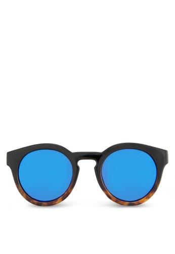 Nigole 玳瑁粗框太陽眼鏡, 飾品zalora退貨配件, 復古框