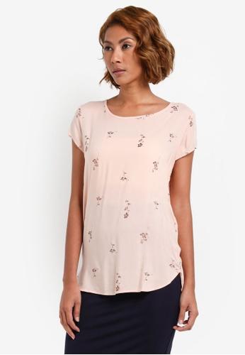 Vero Moda pink Boca Short Sleeve Tee VE975AA0S3XOMY_1