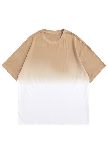 Twenty Eight Shoes Gradient Dip-Dyed Short T-shirt 5329S21 74CBAAA9F9A8D7GS_1