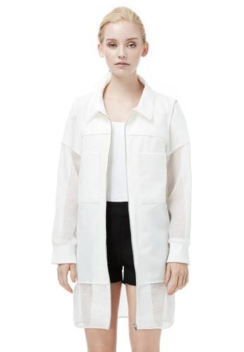 長版襯衫拉鍊外套, 服飾, 夾克 &aesprit outlet 桃園mp; 大衣