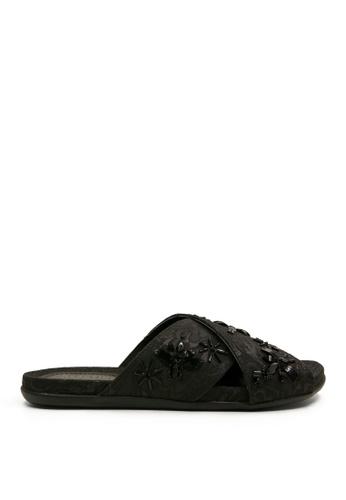 Kenneth Cole New York black SLIM BUG - Slide Sandals KE615SH48ADBMY_1