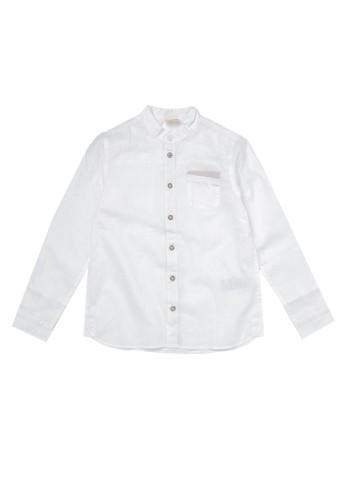 Giordano white Linen Long Sleeve Junior Shirt A2140KAC42E04EGS_1