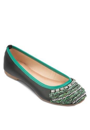 Wolves 撞色滾邊閃飾平底鞋, 女zalora是哪裡的牌子鞋, 鞋