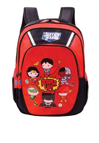DC Comics black and red Justice League School Bag 2DE83KCFA11EC9GS_1