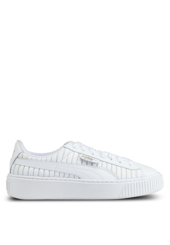 Puma white Basket Platform Ep Sneakers PU549SH0SWEGMY_1