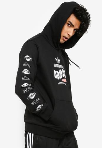adidas originals watercolor trefoil hoodie