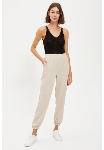 DeFacto beige Woman Woven Trouser 55A03AAC37BF51GS_1