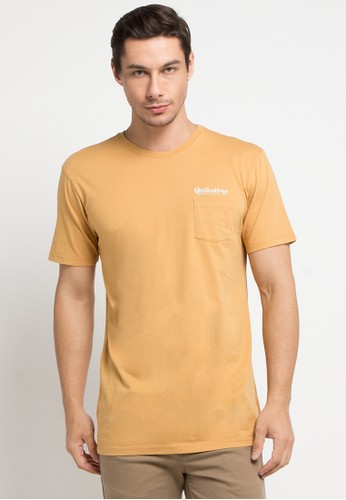 Quiksilver yellow Fine Line Pocket T-Shirt 9AA75AACDE6DC7GS_1