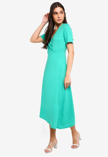 ZALORA green Asymmetrical Knit Dress EBB3EAA9AE1F3CGS_1
