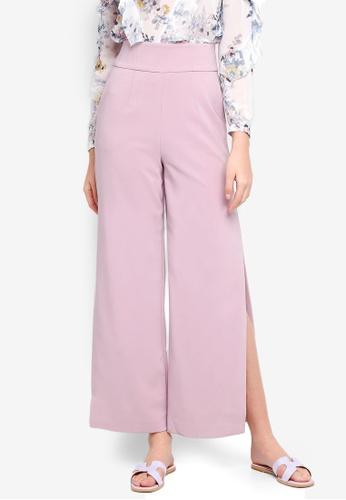 Forever New pink Lexi Corset Wide Leg Split Pants 5836BAAF67D031GS_1