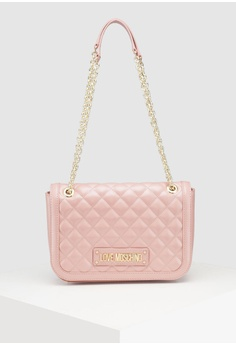 9860fe4113ac Love Moschino pink Quilted Shoulder Bag FF115AC98EB138GS 1