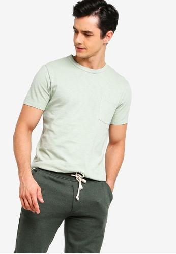 J.Crew 綠色 經典口袋T恤 5D640AAA9C3A8EGS_1