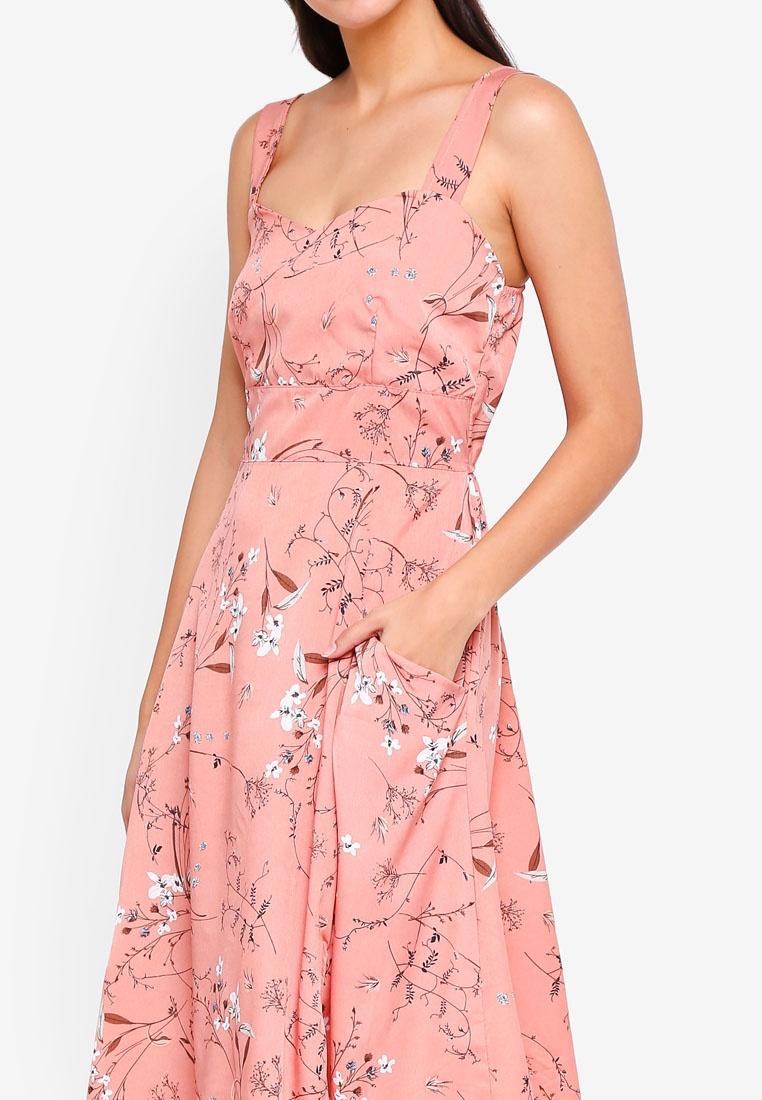 Pink Clothing Dress Ova Side MKY Pocket Flower W7qXTXxHY