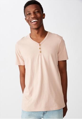 Cotton On pink Essential Henley T-Shirt DCA7BAAF7204E9GS_1